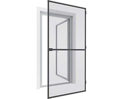 Hordeur, insectenwerende deur 210x100 cm - frame: antraciet / stof: antraciet