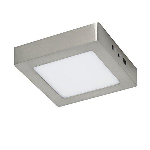 Sulion Pluriel plafondlamp, geschikt voor badkamer, 12 W, grijs, 17 x 17 x 3,5 cm