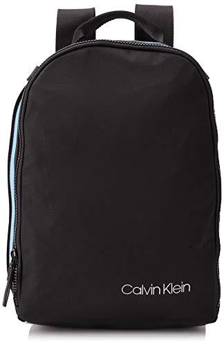 Calvin Klein - Clash Round Backpack, Mochilas Hombre, Negro (Black), 15x30x42 cm (B x H T)