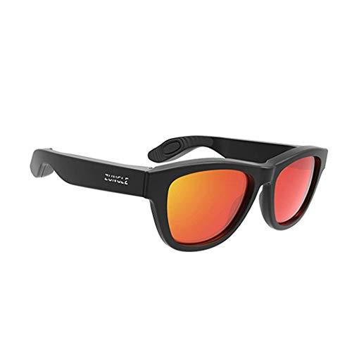 XBSXP Auriculares de conducción ósea Gafas Carga USB Auriculares inalámbricos Bluetooth Gafas de Sol Deportivas Montado en la Cabeza Oreja Deportes Orejeras Deportes al Aire Libre Conduc