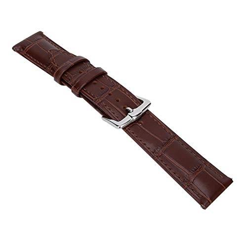 DAUERHAFT Banda de Reloj Ajustable de 20 mm Banda de Reloj Ajustable Accesorios de Reloj(Brown)