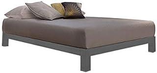 Asghar Furniture - Bristol Opulence Platform Bed - Grey, Super King With Mattress