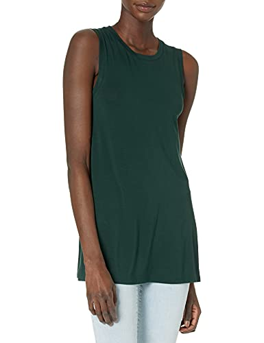 Daily Ritual Women's Jersey Standard-Fit Muscle-Sleeve Swing Tunic, Deep Green, Large