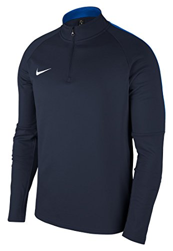 NIKE M NK Dry Acdmy18 Dril Top LS Long Sleeved t-Shirt, Hombre, Obsidian/Royal Blue/White, M
