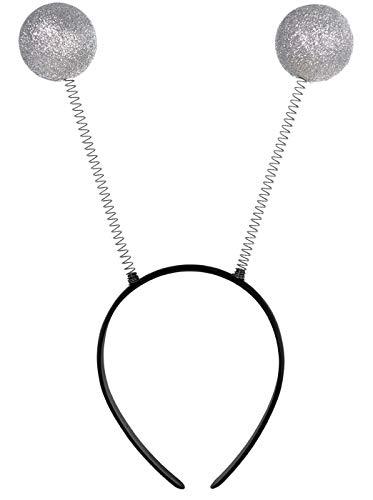 Amscan Silver Martian Antenna Head Bopper, One Size