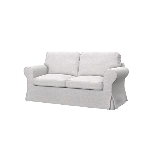 ikea sofas Soferia Replacement Cover for IKEA EKTORP 2-seat Sofa, Fabric Naturel White
