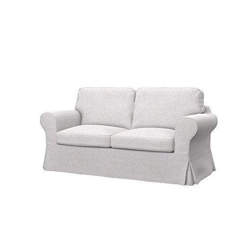 Soferia Fodera Extra Ikea EKTORP Divano Letto a 2 posti, Tessuto Naturel White