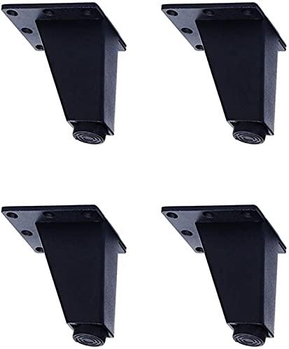 XBCDX Eisenmöbel Füße 9cm, 4 Stück Metall Stützbeine, Geeignet für Sofa, Couchtisch, TV-Schrankbett DIY-Projekt, mit Befestigungsschrauben