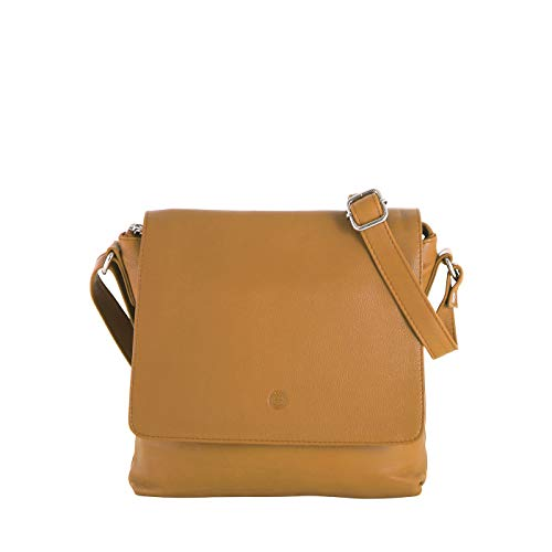 Sattlers & Co. Umhängetasche Laluna The Italian | Umhängetasche für Damen | Damen Handtasche aus echtem Leder (dunkelgelb)