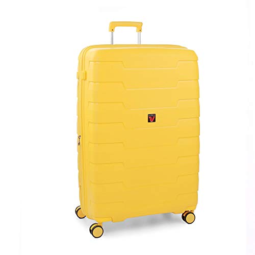 Roncato Skyline Maleta Grande Expansible Amarillo, Medida: 79 x 50 x 29/34 cm, Capacidad: 125/140 l, Pesas: 4.2 kg