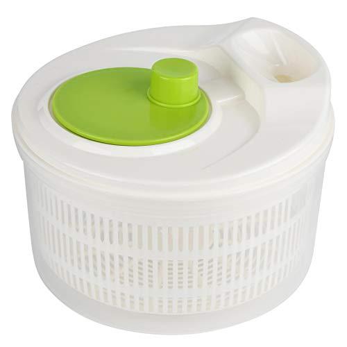 Lavadora de verduras, centrifugadora de ensaladas, secadora de frutas y verduras, centrifugadora de lechuga, tirador manual de plástico para ensaladas, 16,3 oz