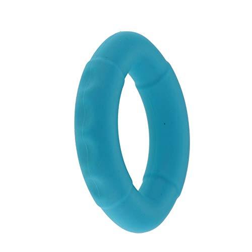 Bandas de Resistencia para Estiramiento de Dedos, Anillo de Agarre de Silicona en Forma de O, Anillo de Agarre de Mano de Silicona, 100 g, Azul, Verde y Naranja para Entrenamiento de Dedos, Azul Lago