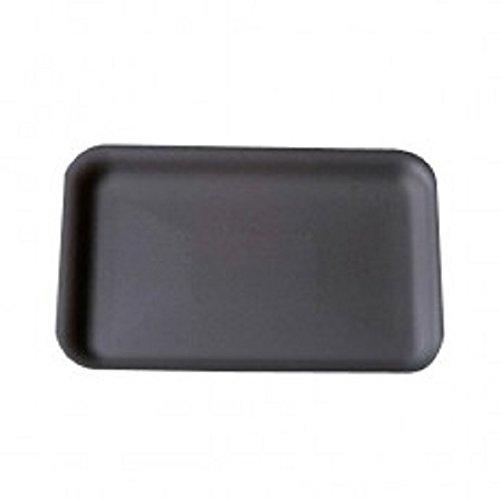 CKF 2SBK, 2S Black Foam Meat Trays, Disposable Standard Supermarket Meat Poultry Frozen Food Trays, 100-Piece Bundle