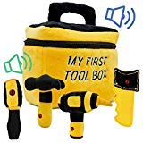 Toy Tool Set for Boys | Includes Cuddly Hammer, Handsaw, Screwdriver, Hand Drill, & Zippered Tool...