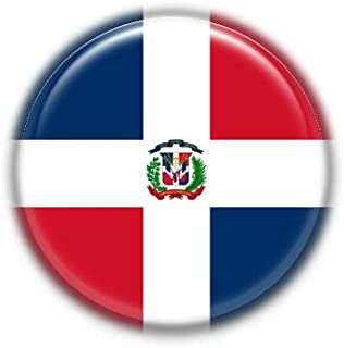 Republica Dominicana : Bandera Nacional, Pinback Button Badge 1.50 Inch (38mm)
