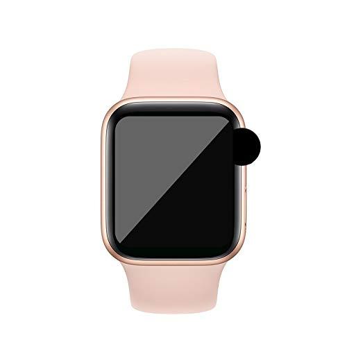 FUNSHINNY Multifuncional Smart Watch 44mm SmartWatch Bluetooth IP68 Impermeable Sport Watch Smart Fitness Tracker Monitor de la frecuencia cardíaca Reloj de precisión (Color : 粉金)