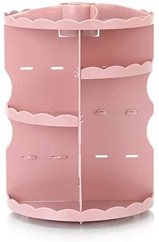 Aufbewahrungsbox Auslage Lagerung kosmetischer Speicher-Runde Tisch Rotating Lippenstift Rahmen Acryl Make-up Box Badezimmer Hautpflegeprodukte Plastikaufbewahrungsbehälter Multifunktionale/große Ka