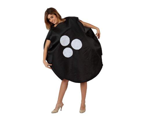 Atosa-97279 Disfraz Bola, color negro, M-L (97279)