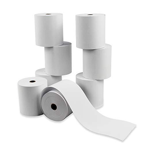 8 Rollos Papel Térmico 80x80x12 mm, Sin Bisphenol A (Pack 8 Unidades)