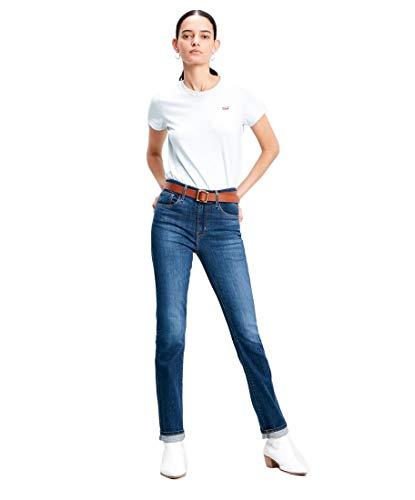 Levi's Womens 724 High Rise Rechte Denim Jeans Koolstofstof T2