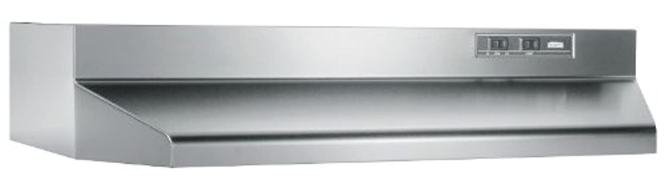 Broan 402404 ADA Capable Under-Cabinet Range Hood, 24-Inch, Stainless Steel