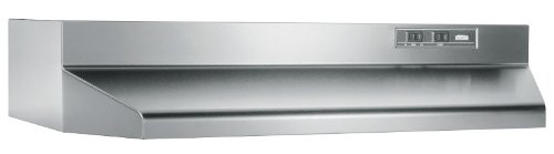 Broan-Nutone 403604 Convertible Range Hood Insert with Light, Exhaust Fan for Under Cabinet, Stainless Steel, 6.5 Sones, 160 CFM, 36'
