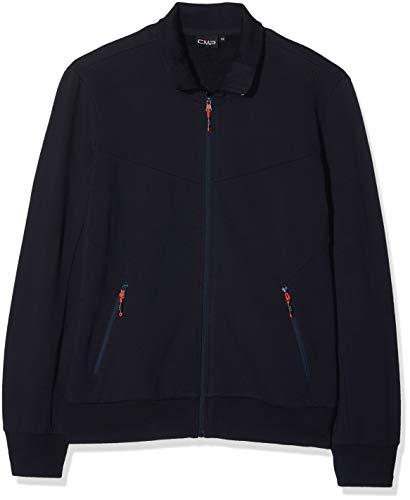 CMP Herren Sweat Sweatshirt, Black Blue, 52