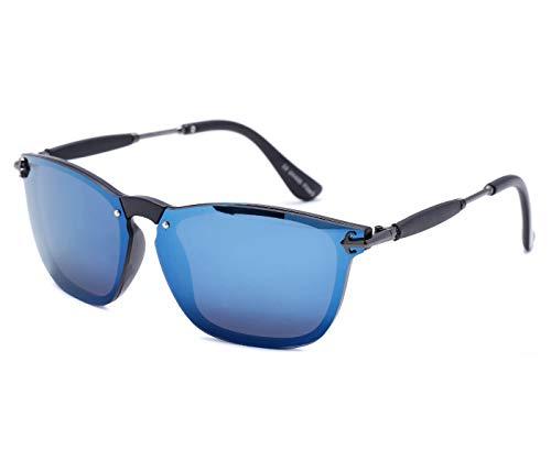 Alsino Lunettes de soleil légères à monture fine avec protection UV 400 Viper Eyewear Collection dans différents modèles Homme Femme Unisexe, bleu