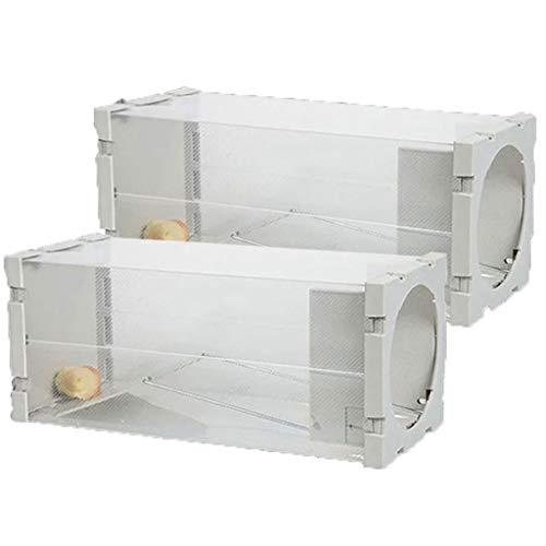 YTRED Trampa para Ratas Ratón Jaula Ratonera Humano Trampa para ratón Vivo plástico Actualización de roedores Vitalidad Trampa para ratón Artefacto Némesis Trampa de Jaula