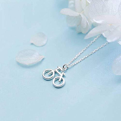 Katylen Weibliche S925 Silber Ohrringe Armband Halskette Niedliche Mini Fahrrad Ohrringe Einfache Fahrrad Ohrringe, Necklace