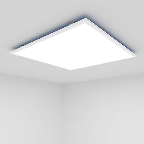 [Pro High Lumen]OUBO LED Panel 30x30cm Neutralweiß 4000K quadratisch 18W 1700 Lumen Weißrahmen LED Wandleuchte Deckenleuchte für Büroräume, Flure, Messehallen
