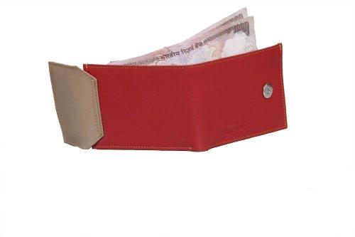 Butterflies Women's Wallet (Red/Beige) (BNS 2044)