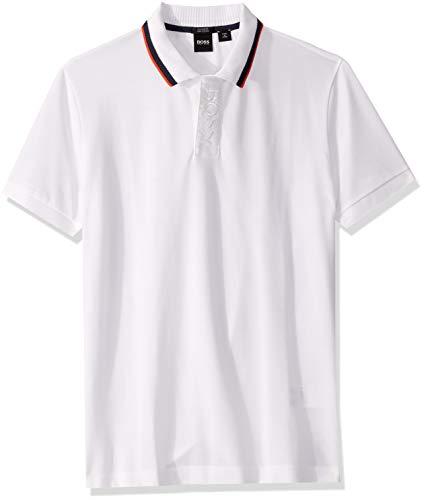 Hugo Boss Herren Paddy Short Sleeve Polo Shirt Poloshirt, weiß, XX-Large