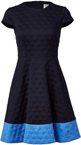 Eliza J Women's Textured Knit FIT and Flare Dress, Navy, 10