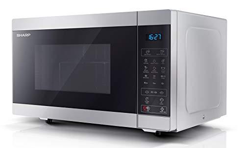 Sharp YC-MG51ES Mikrowelle mit Grillfunktion/Auftauprogramm/ 900 Watt/ 25 liter/ 11 Leistungsstufen/ Eco/ Timer-Funktion/Kindersicherung/ inkl. Drehteller