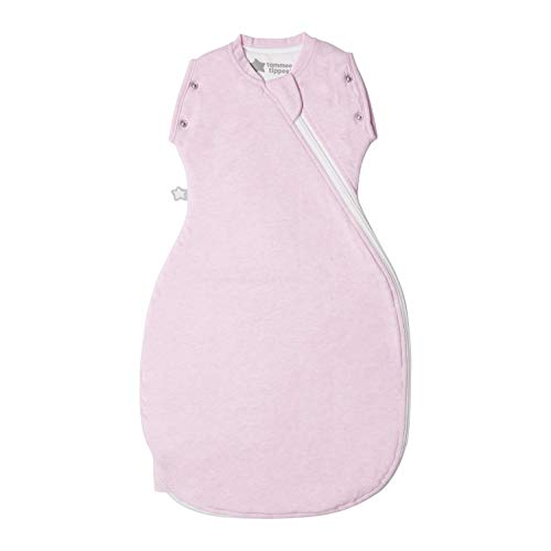 Tommee Tippee The Original Grobag Newborn Snuggle Baby Sleep Bag, 0-4m, 1 Tog, Pink Marl