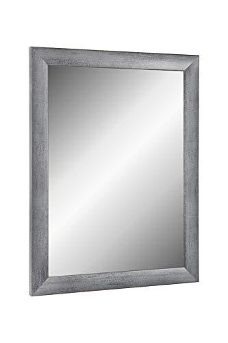 Online-GalleryKing TheMIRROR' gerahmter Spiegel aus echtem Glas 60 x 80 cm Maßanfertigung Wandspiegel in Farbe Grau gewischt z.B als Flurspiegel Salonspiegel usw.