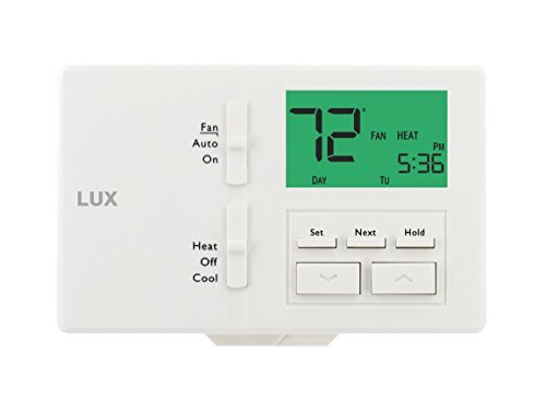 Lux Products TX100E 7-Day Programmable Thermostat, White by Lux