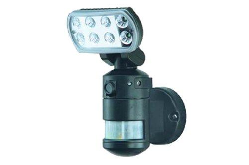 Media Express lampada da parete a LED per esterno/interno (IP44) con sensore di movimento, crepuscolare, dotato di video/fotocamera indipendente, registra su microSD da 2GB