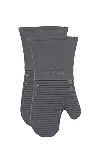 All-Clad Textiles Oven Mitt, 2 Pack, Pewter
