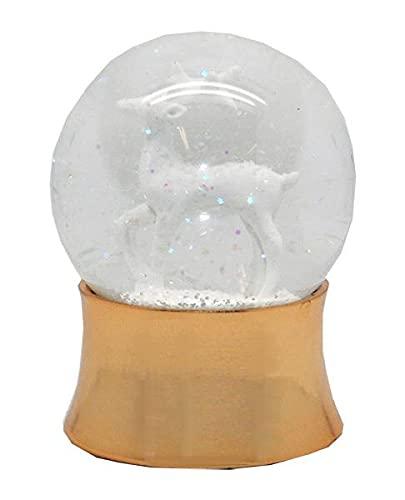 Minium Collection 560_570 - 2 palline di neve con albero di Natale con regali nella sfera – Base a quadretti, 2 misure in set da 65 mm + 45 mm di diametro con bolle d'aria