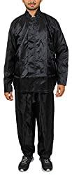 Duckback Solid Men's Rain Suit Solid Mens Rain Suit Black-L, Black, Large,DUCKBACK