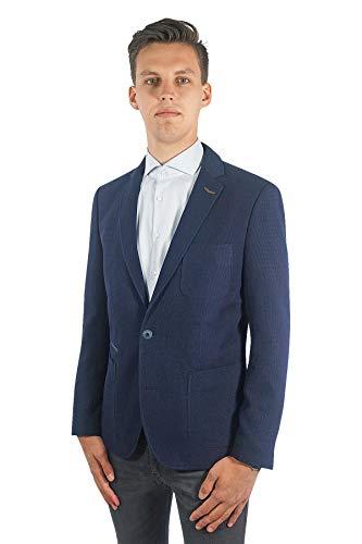 PME Legend Herren Sakko Carrier Fighter Blazer Jackett Anzug Jacke Klassisch Sportlich Regular Blau, Größe:L, Farbe:Dunkelblau