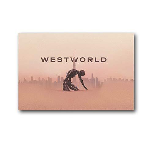 YANGLIN Westworld Poster aus der Serie, Orange, Kunst-Poster auf Leinwand, Gemälde, Dekor, Wandbild, Geschenk, Heim, modern, dekorativ, gerahmt/ungerahmt 20 x 30 cm