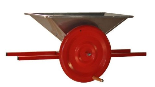 große Obstmühle mit 22 Liter Behälter - mechanisch - perfekt für Kernobst dank schwerem Schwungrad