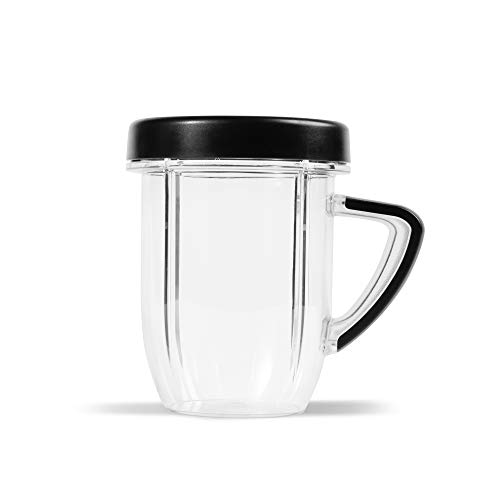 NutriBullet NBM-U0272 Rx Kaffeebecher mit Lippenring, Kunststoff, Schwarz