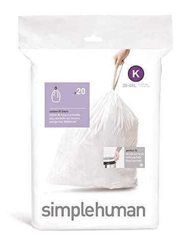 simplehuman, Code K passgenaue Müllbeutel Packung mit 20
