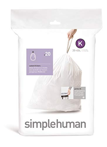 simplehuman Code K 35-45L, White, 20 ct