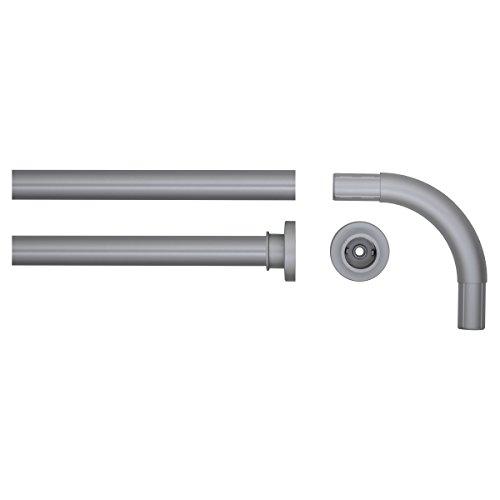 Sealskin Winkel Duschvorhangstange, Aluminium, Farbe: Chrom matt, Durchmesser 28 mm, 90 x 90 cm