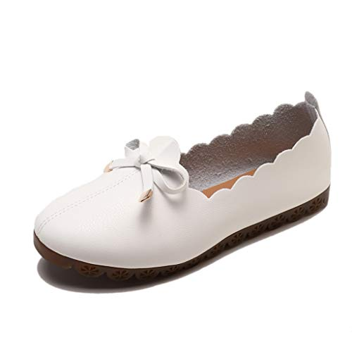 Sayla Sandalias para Mujer Verano 2019 Moda Sexy Casual Cuña Tacon Plataformas Planas Retro Playa Vestir Boda Princesa Bownot Zapatos De Fondo Suave Antideslizante De Trabajo